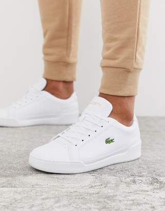 Lacoste Challenge trainers in triple white leather
