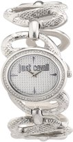 Just Cavalli Women's R7253577503 Sinuous Stainless Steel Oval Swarovski Crystal Watch