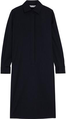 Max Mara Melania Pinstriped Wool Shirt Dress