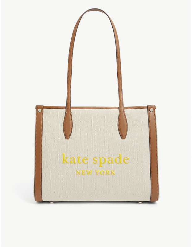 Kate Spade Logo-print canvas tote bag