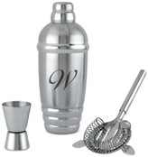 Lenox Tuscany Monogram Barware, Script Letter Cocktail Shaker
