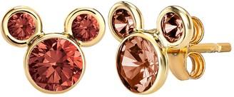 Disney Disney's Mickey Mouse 14k Gold Birthstone Stud Earrings
