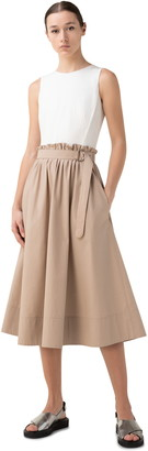 Akris Punto Paperbag Waist Sleeveless Cotton Dress