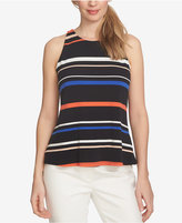 CeCe Twist-Back Striped Halter Blouse