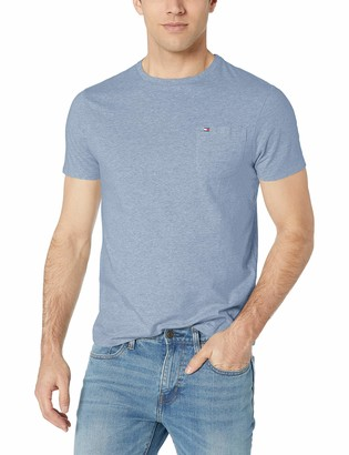 Tommy Hilfiger Men's Short Sleeve Crewneck T Shirt with Pocket