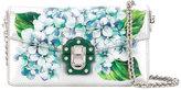 Dolce & Gabbana hydrangea print clutch - women - Calf Leather/Lamb Skin/metal - One Size