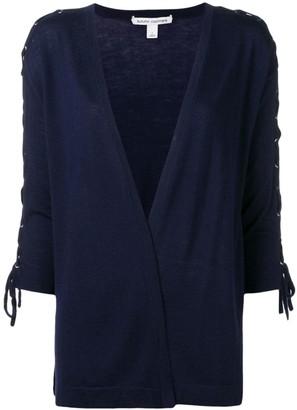 Autumn Cashmere lace-up sleeve cardigan