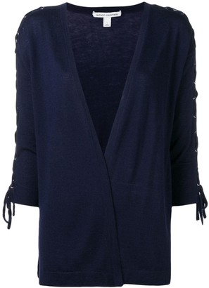 Autumn Cashmere Lace-Up Sleeve Cardigan