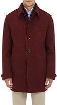 Lodental Men's Wool-Mohair Balmacaan Coat-BURGUNDY