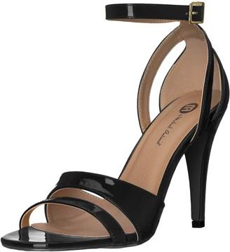 Michael Antonio Women's RANALDI-PAT Heeled Sandal Black 6.5 M US