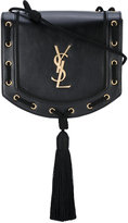 Saint Laurent woven tassel crossbody bag - women - Leather - One Size