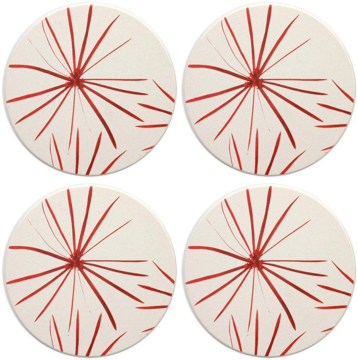 Mikasa Pure Red Set of 4 Coasters