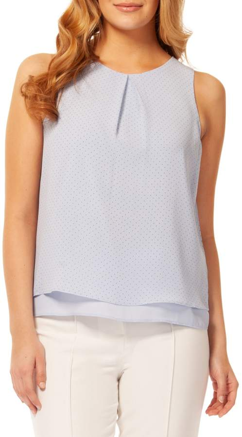 Dex Dotted Sleeveless Top