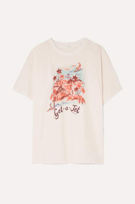 Zimmermann Eyes On Summer Printed Linen And Cotton-blend Jersey T-shirt - Ivory