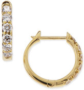 Jude Frances Pavé; Diamond Hoop Earrings in 18K Gold