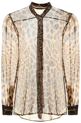 Saint Laurent Printed silk blouse