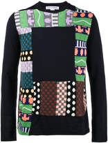 Comme des Garcons Patchwork knitted sweatshirt