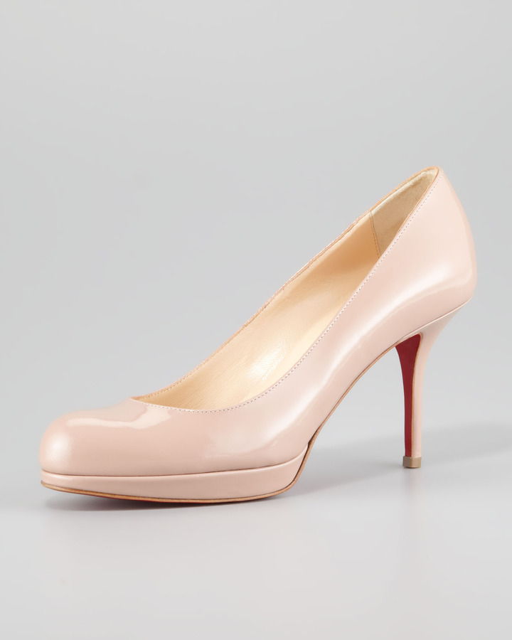 Christian Louboutin Prorata Patent Leather Platform Red Sole Pump