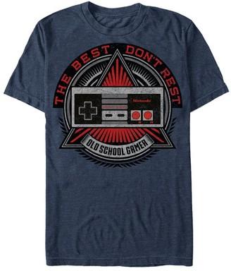 Fifth Sun Men's Tee Shirts NAVY - Nintendo NES 'Old School Gamer' Tee - Men