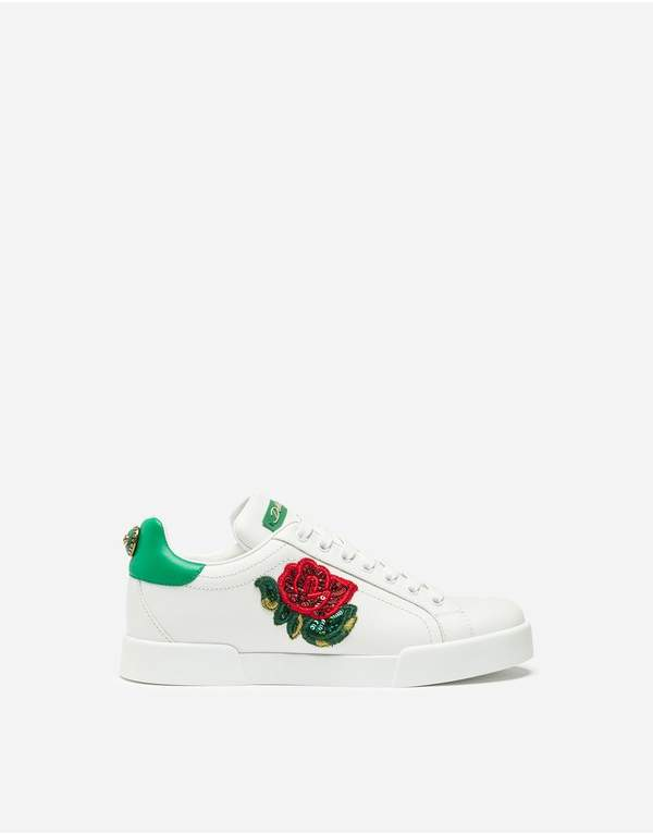 268fb9642d Dolce & Gabbana White Leather Sneakers - ShopStyle