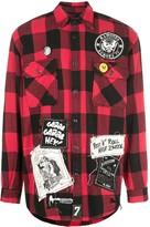 MadeWorn check-print flannel shirt