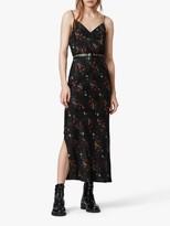 AllSaints Melody Spirit Floral Print Maxi Dress, Black/Multi