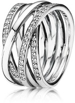 Pandora Ring - Sterling Silver & Cubic Zirconia Entwined