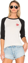 Obey Careless Whispers Sold Out Raglan Tee in White. - size S (also in XS)