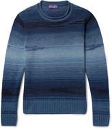 Ralph Lauren Purple Label - Slim-fit Mélange Linen, Cotton, Cashmere And Silk-blend Sweater