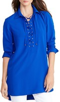Lauren Ralph Lauren Lace-Up Crepe Tunic