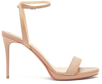 Christian Louboutin Loubi Queen 100 Leather Sandals - Nude