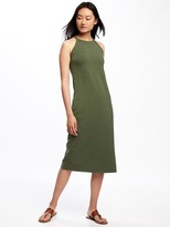 Old Navy High-Neck Side-Slit Midi Dress for Women