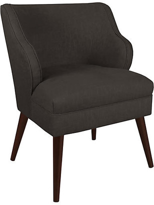 One Kings Lane Kira Accent Chair - Charcoal Linen