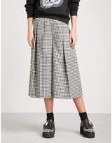 McQ Atami gingham wide-leg wool trousers