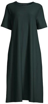 Eileen Fisher Draped Short-Sleeve Dress