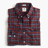 Thomas Mason Slim for J.Crew flannel shirt in red plaid