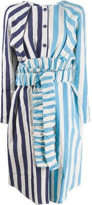 Sunnei Striped Oversized Shirt