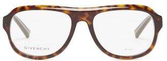 Givenchy Aviator Tortoiseshell-acetate Glasses - Brown