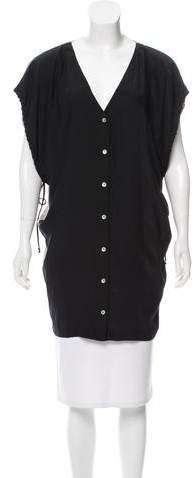 Graham & Spencer Contrast Button-Up Top w/ Tags