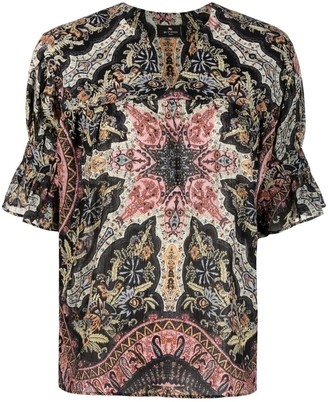Etro geometric paisley print cotton T-shirt
