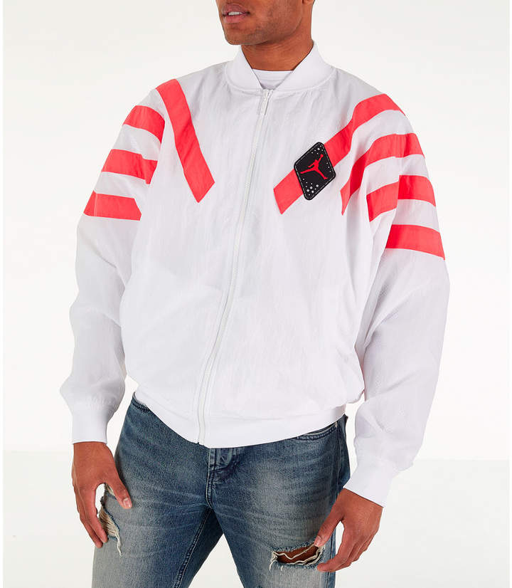 f082ad37e1d Mens White Nylon Jacket - ShopStyle