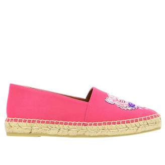 Kenzo Canvas Espadrilles With The Tiger Paris Logo