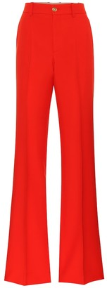 Gucci Silk and wool cady flared pants