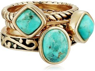 """Barse Glisten"""" Bronze Orange Sponge Coral Stack Ring Size 7"""