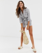 RD & Koko plaid paperbag shorts