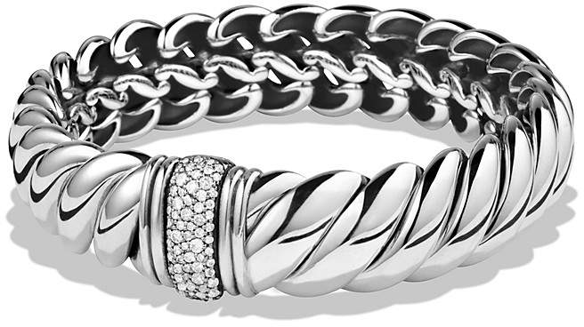 David Yurman Hampton Cable Bracelet with Diamonds