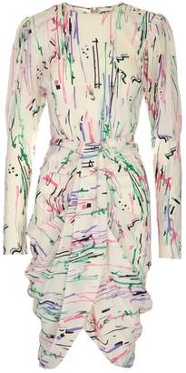 Isabel Marant Scribbles Printed Draped Dress