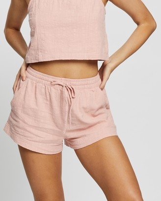 Rusty Women's Pink High-Waisted - Lovewild Shorts - Size One Size, 10 at The Iconic