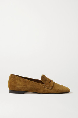 KHAITE Carlisle Suede Loafers - Light brown