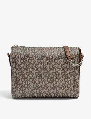 DKNY Bryant monogram canvas cross-body bag
